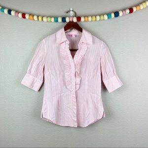 Lily Pulitzer Front Ruffle Blouse